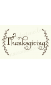 Thanksgiving with Laurels 12x18 stencil