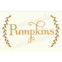 Pumpkins with Laurels 12x18 stencil