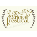 harvest festival with Laurels 12x18 stencil