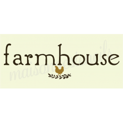 farmhouse with chicken and laurel 8x18 stencil