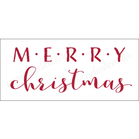 Merry Christmas Writing Images.Merry Christmas 2018 8x18 Stencil
