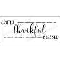 grateful thankful blessed new 2018 no2 8x18 stencil