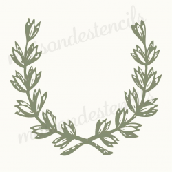 Laurel Wreath New 2018 12x12 stencil