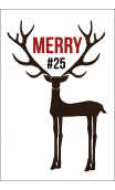 Deer with Large antlers MERRY 12x18 stencil