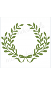 Laurel Wreath double with bow 12x12 stencil