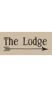 Lodge with arrow 8x18 stencil