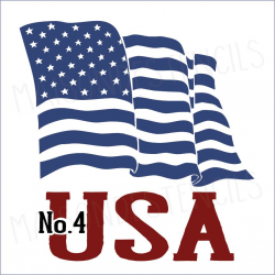 Flag USA No.4 2019 12x12 stencil