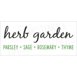 herb garden Parsley Sage Rosemary Thyme