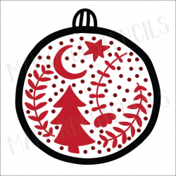 Swedish Christmas ornament 2019 12x12 stencil