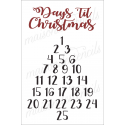 Christmas Calendar count down 12x18 stencil