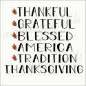 Thanksgiving word list 12x12 stencil