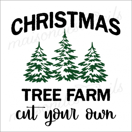 CHRISTMAS TREE FARM cut your own 12x12 stencil