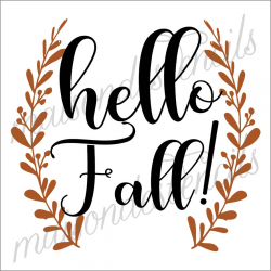 Happy Fall! 12x12 stencil