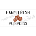 FARM FRESH PUMPKINS 2019 5.5x11.5 stencil