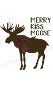 Merry KISS MOOSE with scarf 12x12 stencil