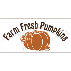 FARM FRESH PUMPKINS 5.5x11.5 stencil