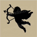 Cupid with bow and arrow 5 x 5 stencil