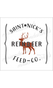 Saint Nick's Reindeer Feed Co. 12x12 stencil