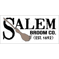 SALEM BROOM CO. 8X18 stencil
