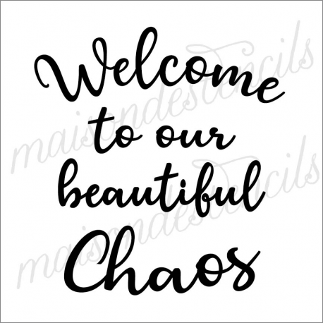 Welcome to our beautiful Chaos 12x12 stencil