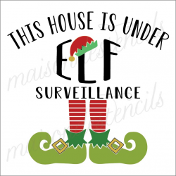 This House is under ELF Surveillance 12x12 stencil
