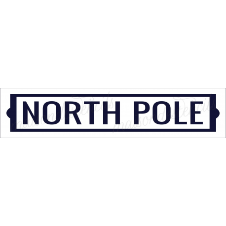 North Pole 4x18 stencil