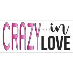 CRAZY in LOVE 8x18 stencil