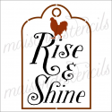 Rise & Shine with Rooster 12x12 stencil