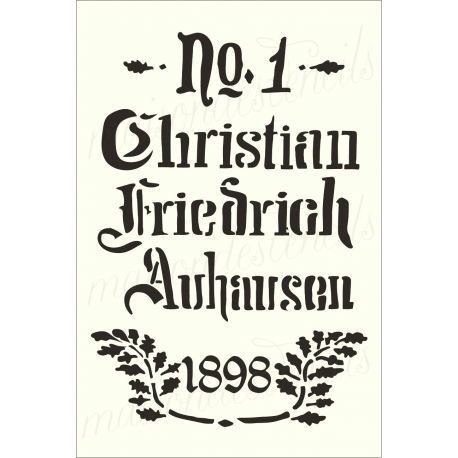 Feedsack German replica Christian Friedrich No.1 12x18 stencil