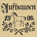 Feedsack German replica Aufhausen 1906 12x12 stencil