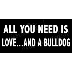 All you need is love... and a Bulldog 5.5x11.5 stencil