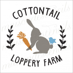 Cottontail Loppery Farm 12x12 stencil