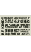 Be Kind, Be Thankful, Live Simply 12x18 stencil