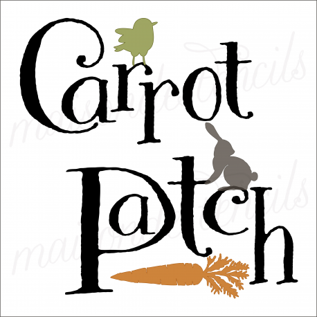 Carrot Patch 12x12 stencil