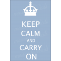 Keep Calm and Carry On 12x18 Stencil