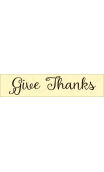Give Thanks 2020 4x18 Stencil