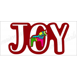 JOY with dala horse 8 x18 Stencil