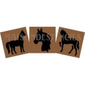 Horse Graphics Trio - 3 Small Stencils