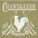 Chanticleer Rooster French Mill 12x12 Stencil