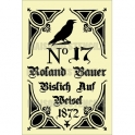 Roland Bauer Crow German Feedsack 12x18 Stencil