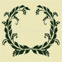 Laurel Wreath Holiday 12x12 Stencil