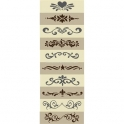 Scroll and Shelf Sitters Stencil Collection