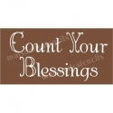 Count Your Blessings Thanksgiving Holiday 5.5x11.5 Stencil