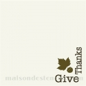 Give Thanks Thanksgiving Holiday 8x8 Corner Stencil
