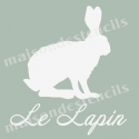 Lapin Rabbit Graphic 8x8 Easter Holiday Stencil