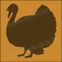 Turkey Graphic 8x8 Thanksgiving Holiday Stencil