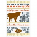 Hiram's Bar Be Que BBQ Southern Food Menu 12x18 Stencil