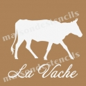 Vache Cow Graphic 8x8 Stencil