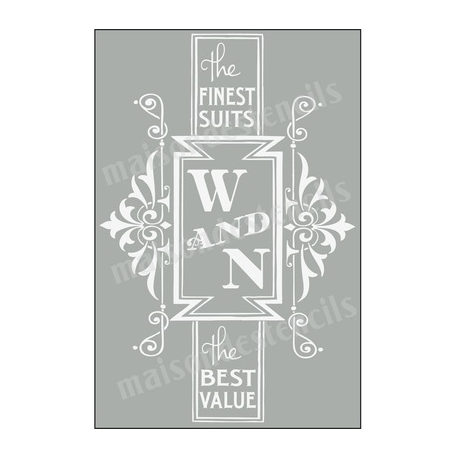 W and N Finest Suits Advertisement 12x18 Stencil