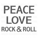 Peace Love Rock and Roll 12x12 Stencil